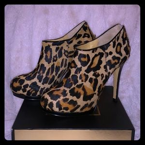 High Leopard booties